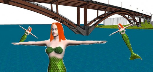 Developer sketch of proposed toll bridge across the Weeki Wachee River.