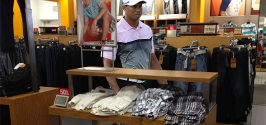 Tiger Woods was spotted shopping at the Kohl's on Spring Hill Drive on Sunday.
