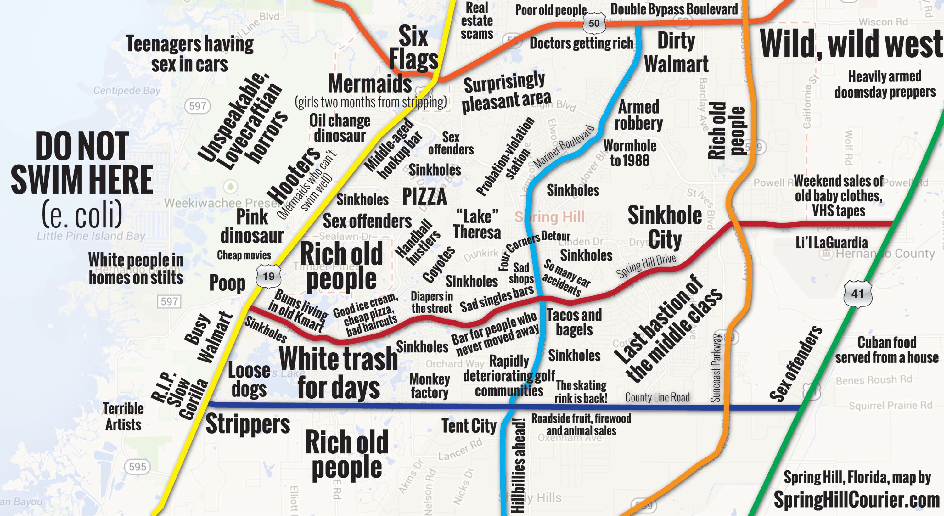 Judgmental Map of Spring Hill   Spring Hill Courier